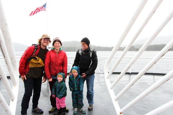 On our way from Juneau to Sitka, we posed on the back deck of the Taku, as we wound through Peril Straits.