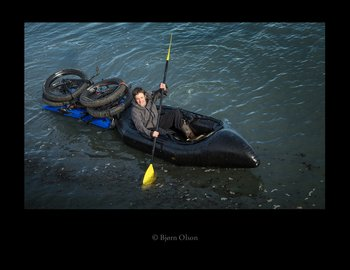 Kim and I will be using a two person Gnu packraft and a trailer to carry our bikes on our Ring of Fire expedition.
