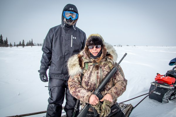 Koyuk hunters out shopping for caribou.