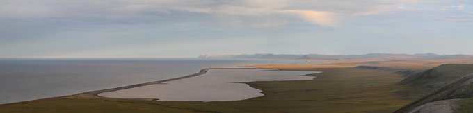 Long spits with lagoons are a common feature along the Chukchi coast.