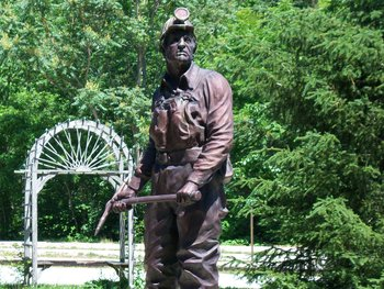 Kentucky coal miner statue