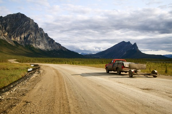 The Dalton Highway was built in 5 months in 1974 to gain access to the oil fields and was opened to the public in 1981.