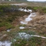 Drill slurry outfall onto tundra