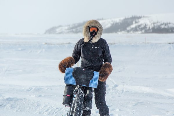 March, 2016 - Bjørn Olson and Kim McNett fat-biked from Nome to Kotzebue, then on to Kivalina.