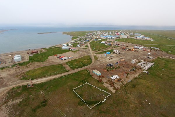 Alaska's easternmost arctic coastal village, Kaktovik sits right next to the Alaska National Wildlife Refuge.