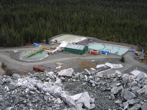 Waste water treatment plant at Kensington Mine