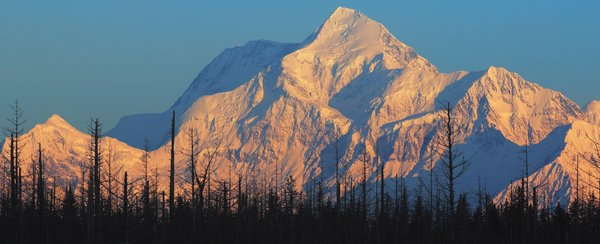 Morning sun on the third highest peak in north America