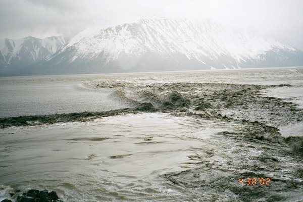 Photo 9 - at this point we're looking north again, and the reflected bore is headed west out Turnagain Arm.