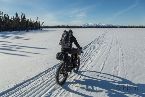 After months of preparation Bjørn and Kim are finally underway on their most ambitious winter fat-biking expedition - 'fat-bike to the arctic'.